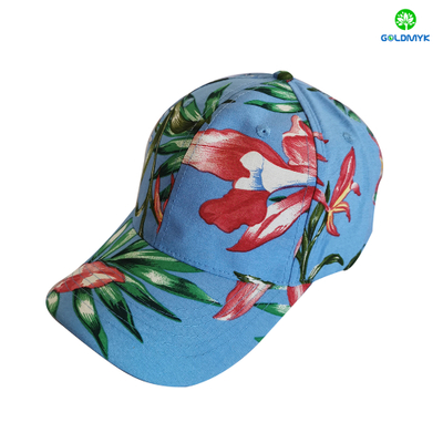Custom Made Flower Cotton 6 Panels Lady Baseball Cap
