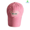 Wholesale Pigment Washed 6 Panels Pink Baseball Cap