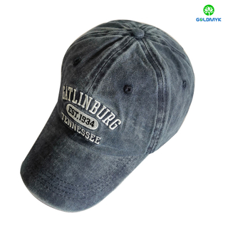 Custom Made Wholesale Pigment Washed 6 Panels Baseball Cap