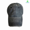 Custom Logo Stock Pigment Washed Cotton Baseball Cap With Ponytail Hole