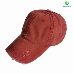 Customized Coated Washed Distressed Cap
