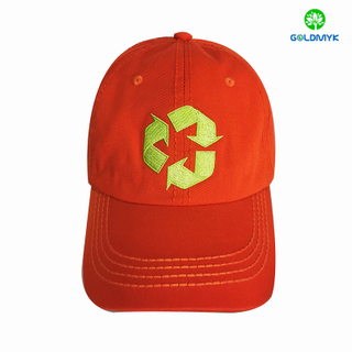 Recycle custom RPET material and cotton fabric baseball caps