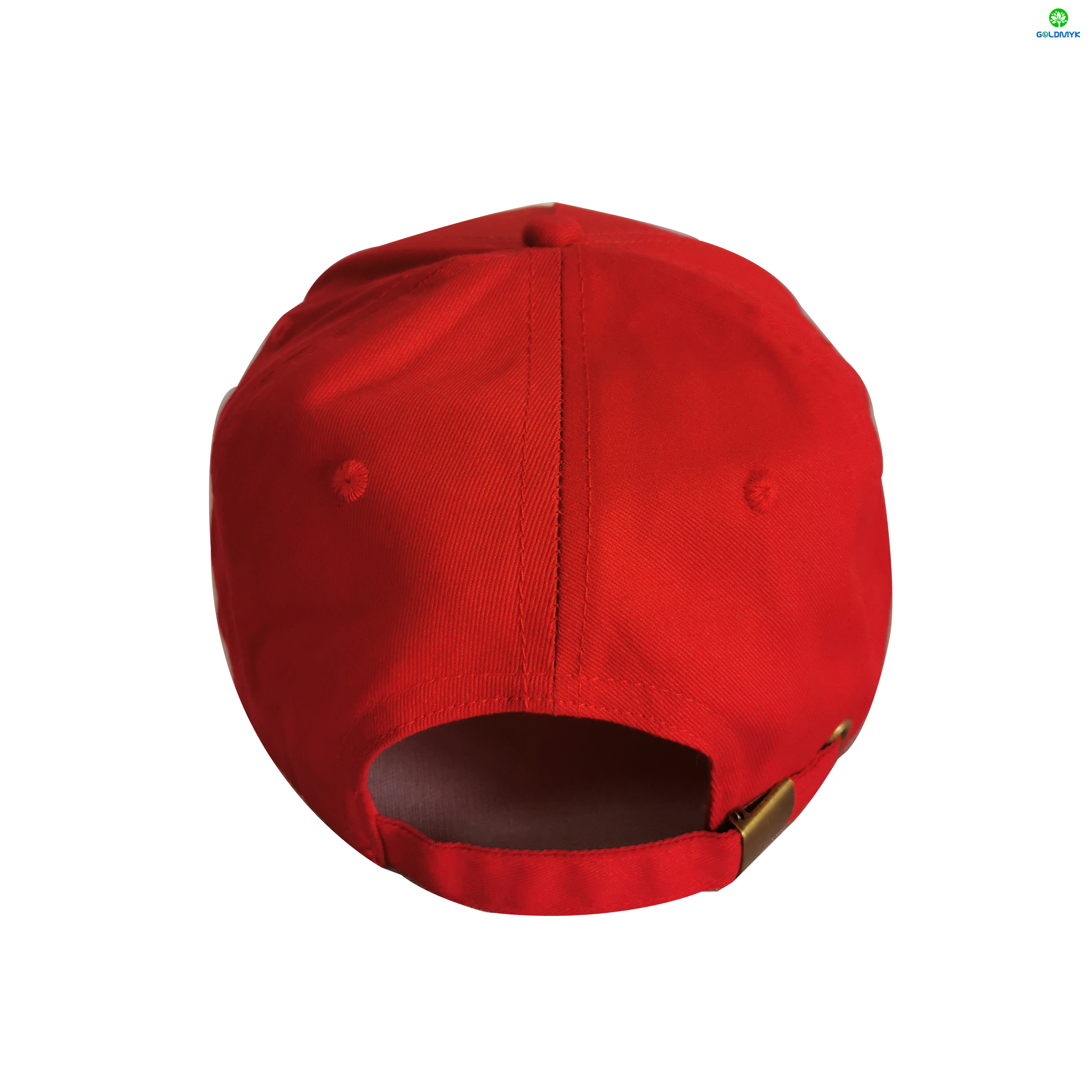 5 Panel Cotton Rubber Print Baseball Cap With Metal Buckle