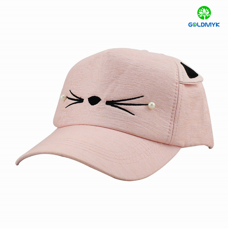 Fashion 5 panels Kid cap with Ear for Girl
