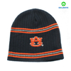 100% acrylic embroidery beanie hat with stripe
