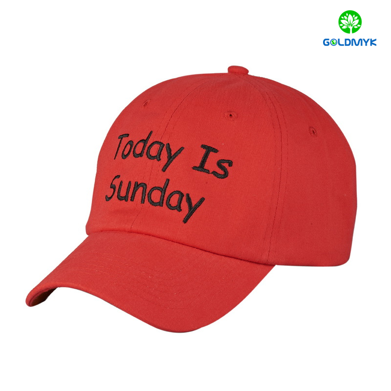 Wholesale Flat embroidery six panels baseball Hat