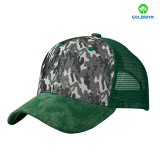 100% polyester 6 Panel trucker cap with custom logo