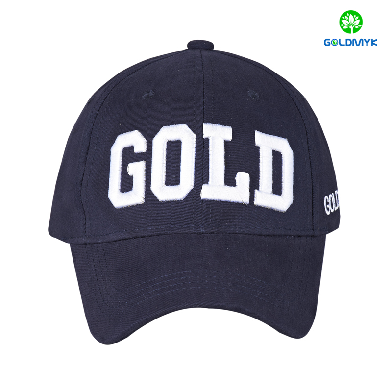 High quality Cotton twill Flat embroidery 6 panels Baseball Hat