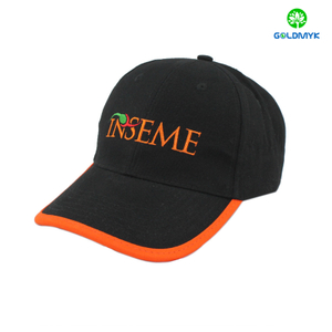 Custom Flat embroidery baseball hat with brim border for promotion