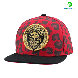 Wholesale Cotton Snapback hat with Gold thread embroidery
