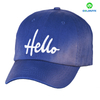 Blue embroidery washed cotton cap