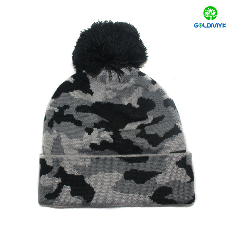 Fashion beanie custom funny knit winter knit hat