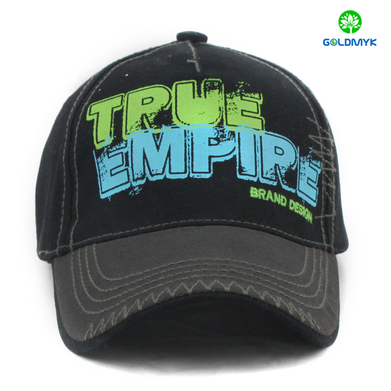 Custom Cotton Printing Five panels plain color baseball cap