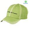 Fashion six panel washed cotton twill custom baseball cap