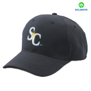 Six panel micro fabric baseball cap with thick stitching