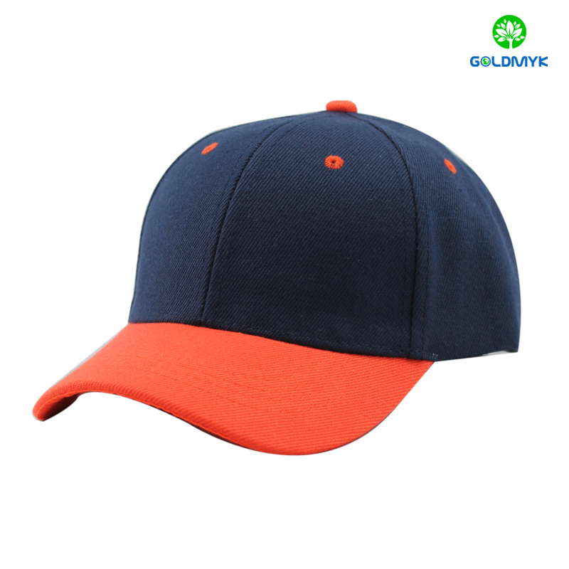 promotioanl custom contrast color cheap blank baseball cap