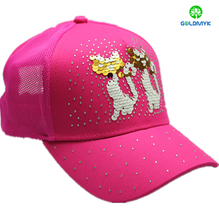 lovely sequin mesh outdoor baseball cap