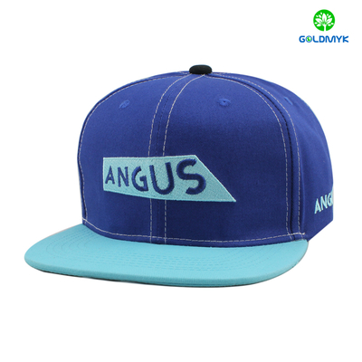 Cotton snapback cap with flat embroidery logo