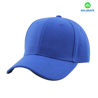 100% Acrylic blank sport cap in royal blue color