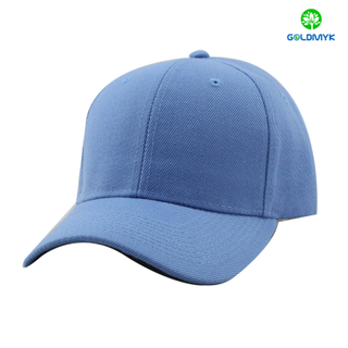 Light blue acrylic six panel sports cap