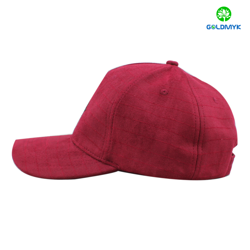 Polyester baseball cap with rubber printing