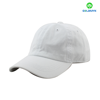 Washed blank baseball cap with cotton material