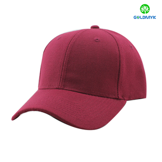 100% Acrylic wine red blank cap