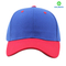 Bright blue and red acrylic six panel cap