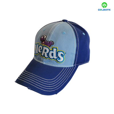Customized Embroidery Distressed Mesh Cap