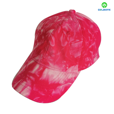 Wholesale 100% Cotton Tie-dye Washed 6 Panel Baseball Cap Hats