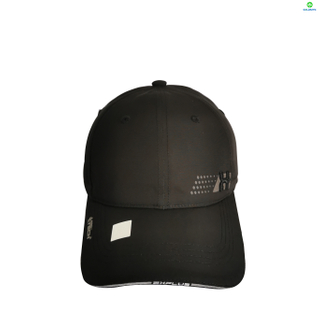6 Panel Micro Fabric 3D Embroidery Baseball Cap With Woven Sandwich