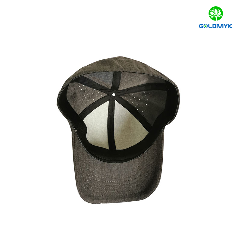 Outdoor Full Closure Blank Baseball Cap With Laser Holes