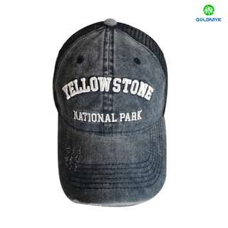 Customized Embroidery Coated Washed Mesh Cap