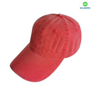 Promotional 100% Cotton Pigment Washed Blank Custom Baseball Cap Hats