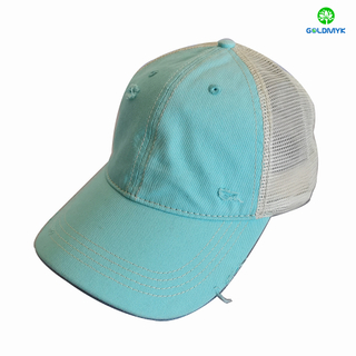 100% Cotton Blank Washed Mesh Cap
