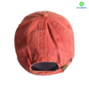 Flat Embroidery Pigment Washed Baseball Cap