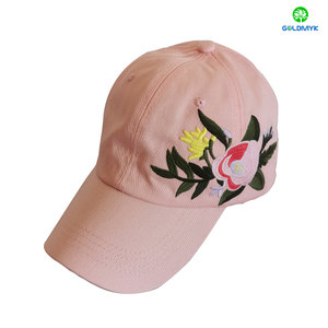 Fashion Beautiful Embroidery Custom Woven Basehall Cap